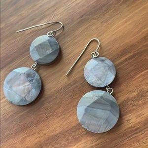 Slate Gray Dangly Earrings